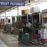 Equipment pathway - inside view of warehouse