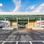 Covered skybridge and warehouses