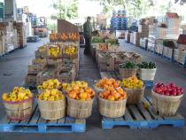 Produce on display at the OFTB