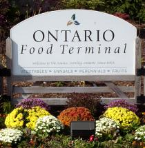 Ontario Food Terminal Board sign
